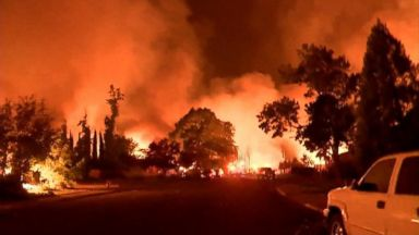 Deadly fire burns out of control in Northern California