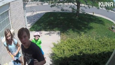 Home security cam recording of kids' 'amazing' act of kindness captures thousands of hearts on social media