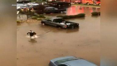 Torrential rains cause dangerous flooding on East Coast