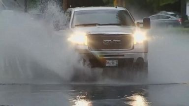 Heavy rains trigger flash flooding in the Northeast