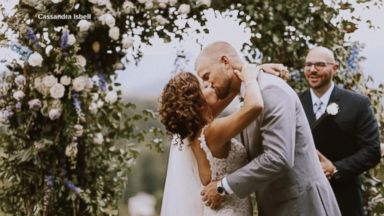 Couple devoted to hurricane relief efforts says 'I do' in donated wedding