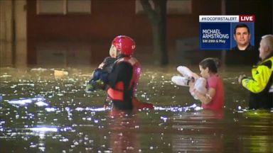 Dozens of water rescues across the flooded heartland