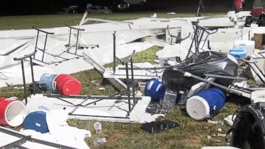Tent collapse injures 12 amid extreme weather outbreak