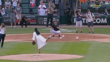 Nun throws amazing first pitch at White Sox game