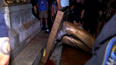 UNC students topple confederate statue