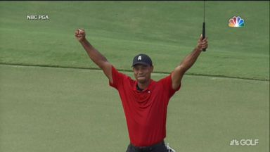 Tiger Woods wins 1st tournament in over 5 years
