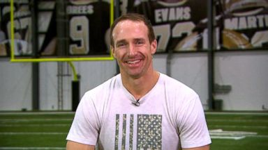 Drew Brees reacts to making NFL history