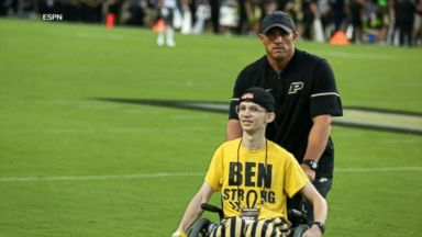 Purdue superfan inspires team's unlikely win over Ohio State