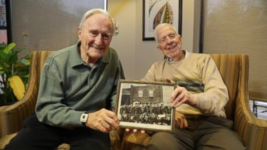 WWII vets reunite decades later at age 95
