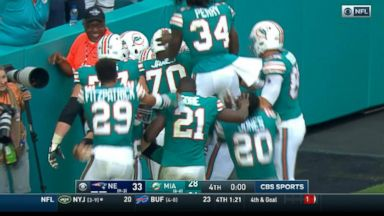 Miami Dolphins running back completes incredible play