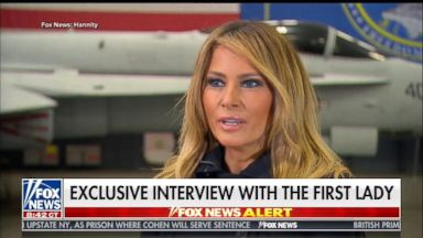First lady calls out 'opportunists' in new interview