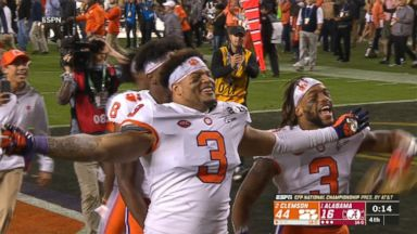 Clemson overpowers Alabama in championship game