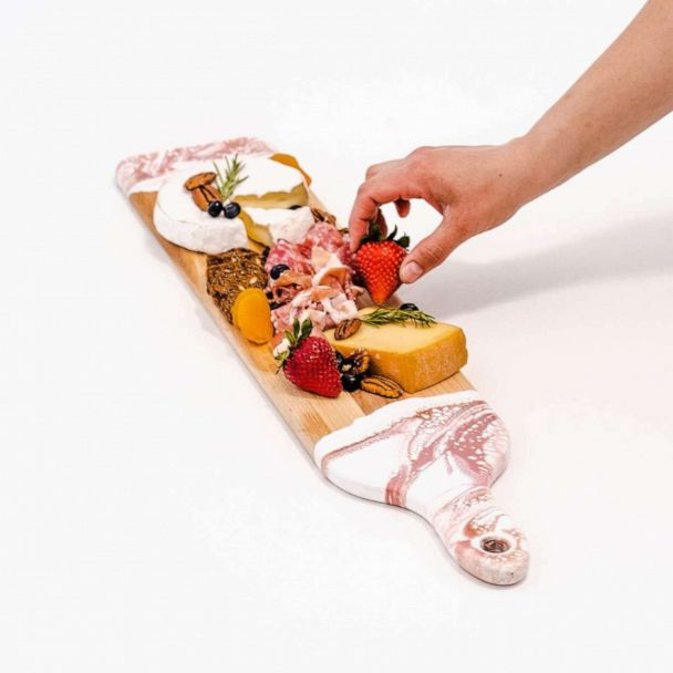 Lynn & Liana Serveware: Resin Accented Cheese Boards