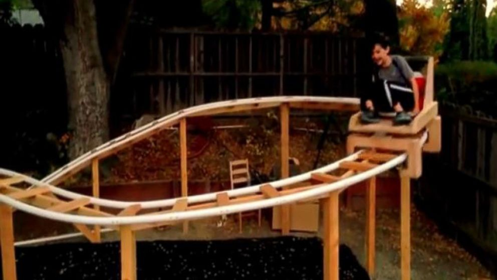 Calif. Father-Son Team Build Roller Coaster In Their ...