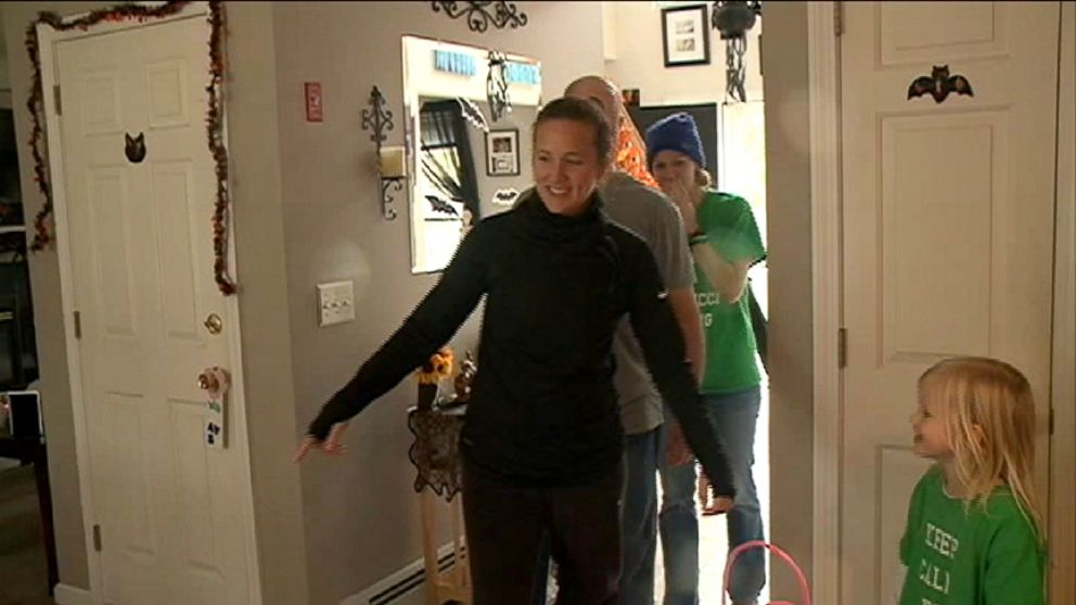 Woman Recovering From Spinal Injury Walks Through Her