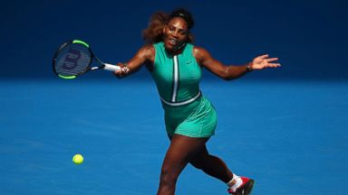 Serena Williams says her Australian Open green jumpsuit is celebrating moms 'that are trying to get back and get fit'