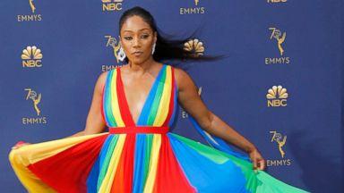 Tiffany Haddish shares the story behind her rainbow dress