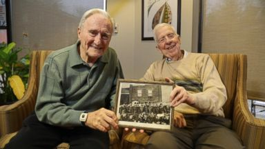 WWII vets who attended the same flight school reunite decades later at age 95