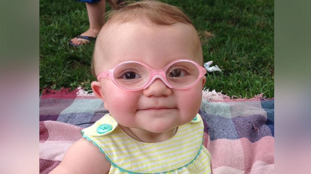 Baby Overjoyed After Trying on Glasses For the First Time