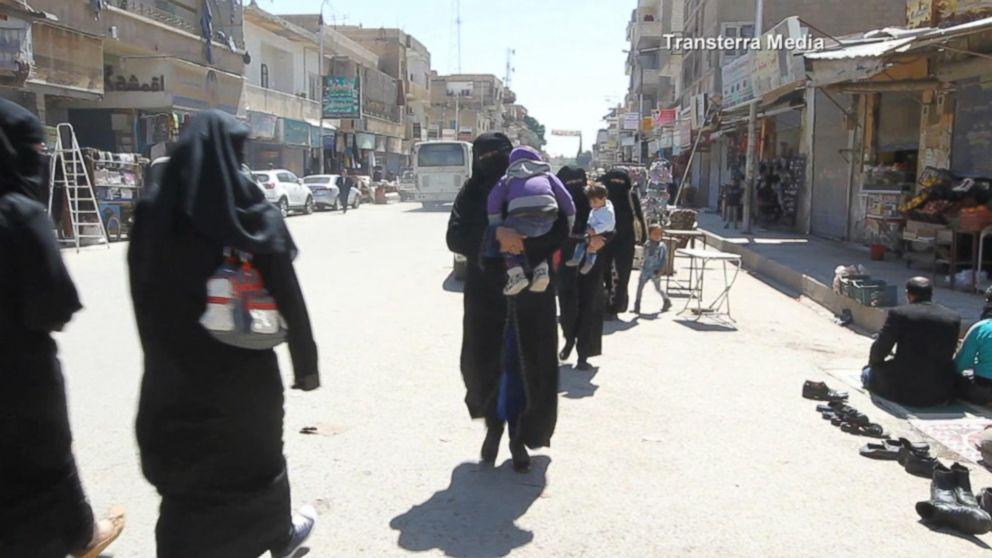 US Airstrikes in Syria: A Rare Look Inside Raqqa Video ...