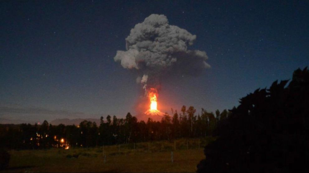 Chile Volcano Eruption Sends Lava Shooting Into Sky Video