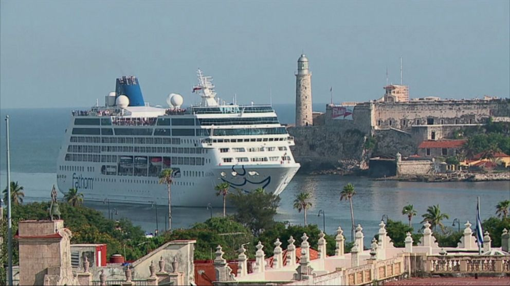 Image result for U.S. cruise ship docks in Cuba