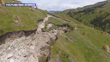 Drone Video Captures Impact of New Zealand Earthquake on Kekerengu Fault