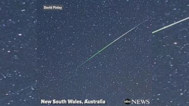 Green meteor shower thrills stargazers in Australia