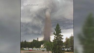 Tornado passes through Alberta, Canada