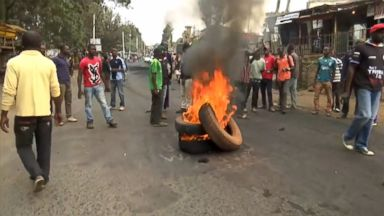 Protesters on the streets ahead of election result