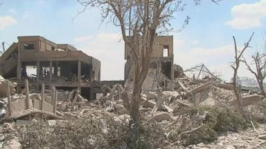 Destruction in Syria in the wake of airstrikes