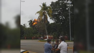 Moments after plane hits the ground in Cuba