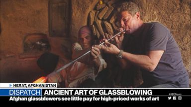 Afghan glassblowers see little for high-priced works of art