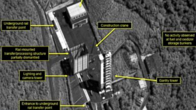 North Korea appears to be dismantling missile engine test sites