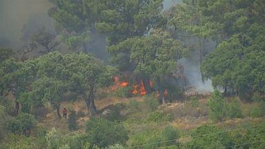 Europe battles wildfires amid massive heat wave