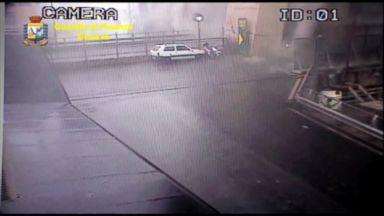 Surveillance video shows moment Italian bridge collapses