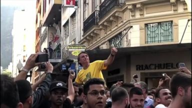 Video shows stabbing of Brazil presidential candidate at rally