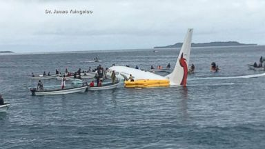 No injuries as jet lands off coast of Micronesia