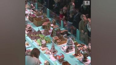 Gingerbread house baking competition in Sweden