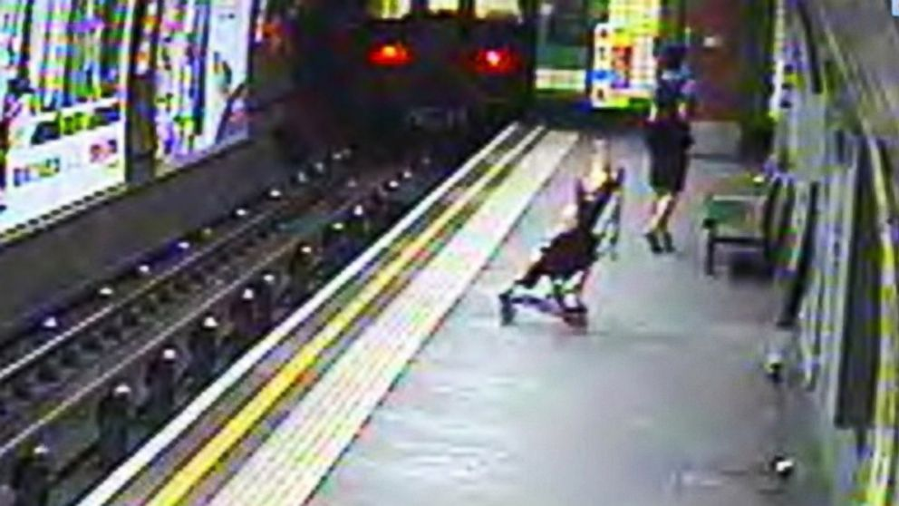 Baby In Stroller Blown Onto Train Tracks Abc News