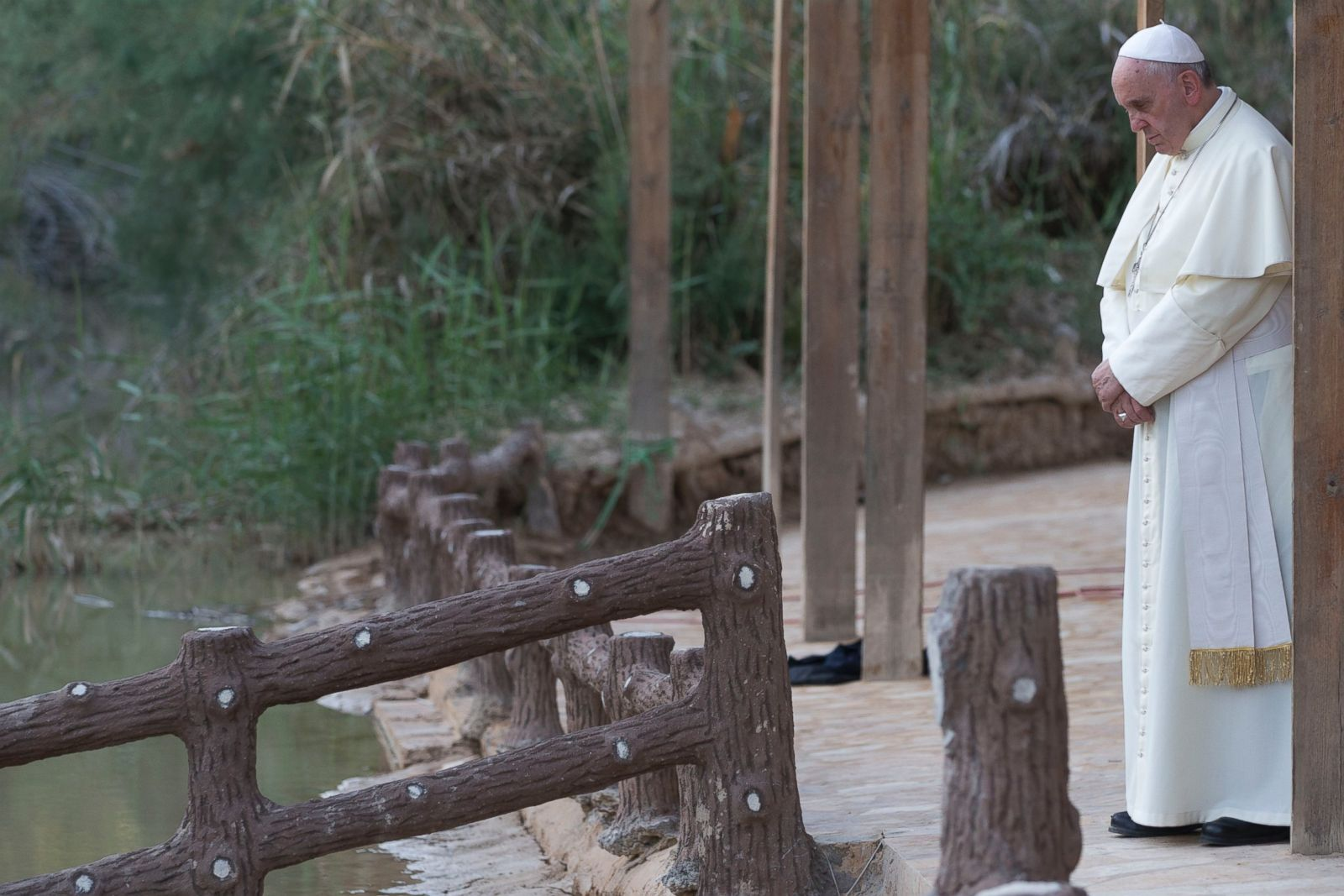 Pope Francis at the Jordan River, ABC News