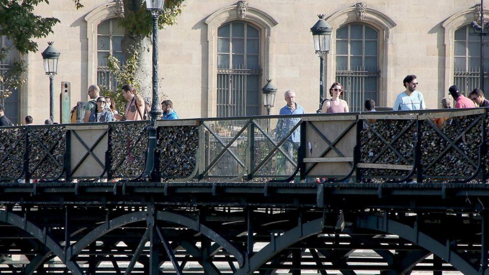 Paris Locks Down On Bridge Love Locks Abc News