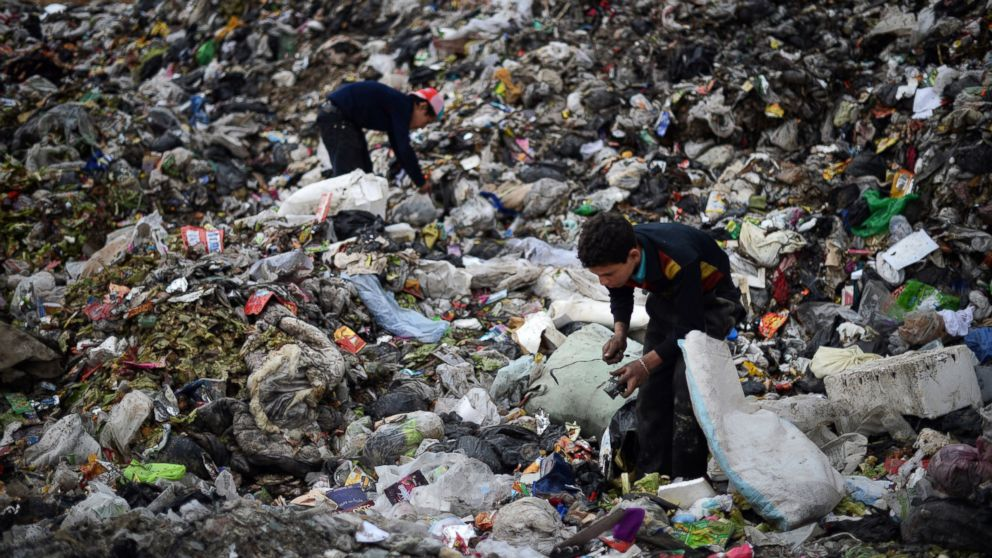 Syrian Children Forage Through Trash To Survive Abc News