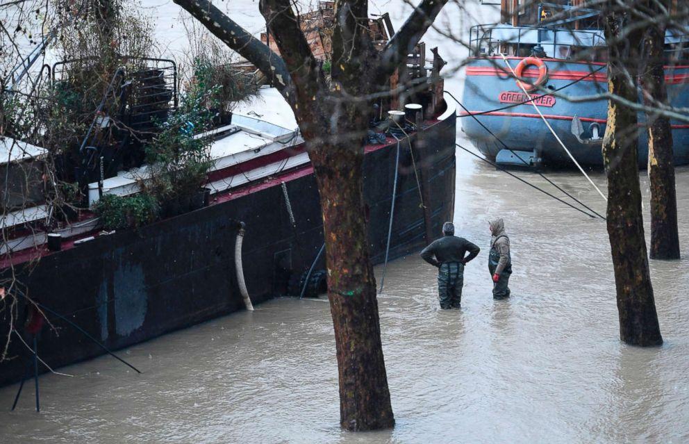 Paris Floods As River Seine Approaches Record Level Rise