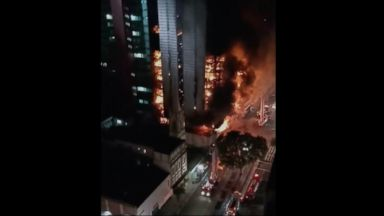 Massive high-rise fire causes building to collapse in Brazil, at least 1 dead