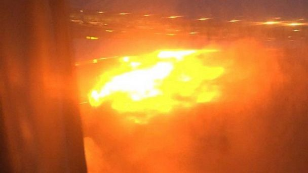 Plane Catches Fire Moments After Emergency Landing - ABC7 ...