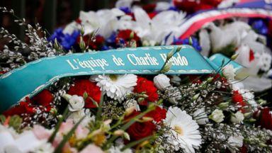 Paris honors attack victims at Charlie Hebdo, kosher market