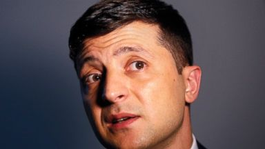 Comedian who plays Ukraine's president on TV leads real race