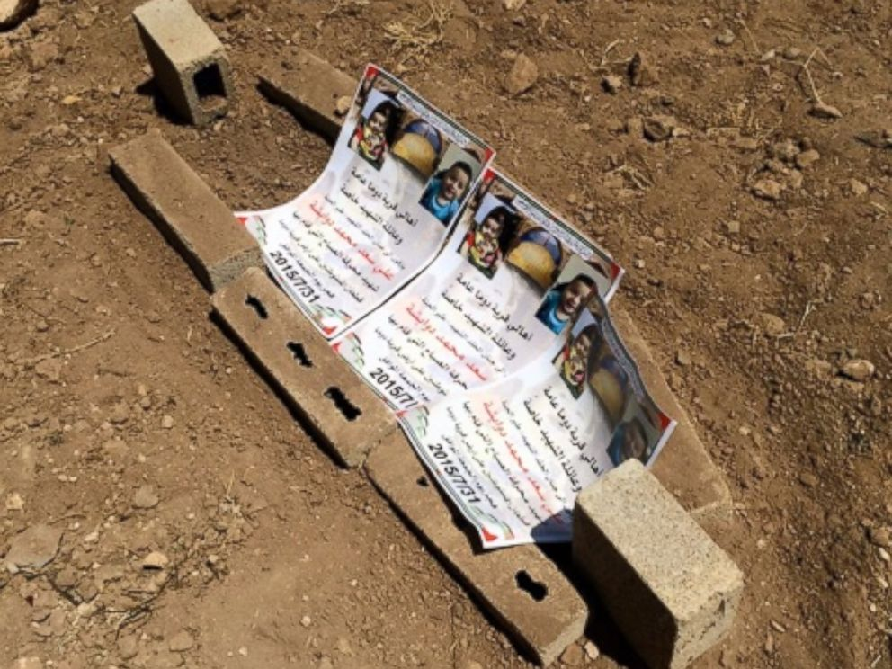 PHOTO: Laid to rest Friday, a tiny grave for 18 month year-old Ali Dawabsheh.