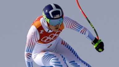 Lindsey Vonn bested by Italian in quest for gold in likely last Olympic downhill race